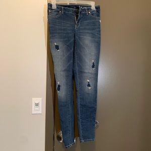 Jennifer Lopez Distressed Bedazzled Jeans